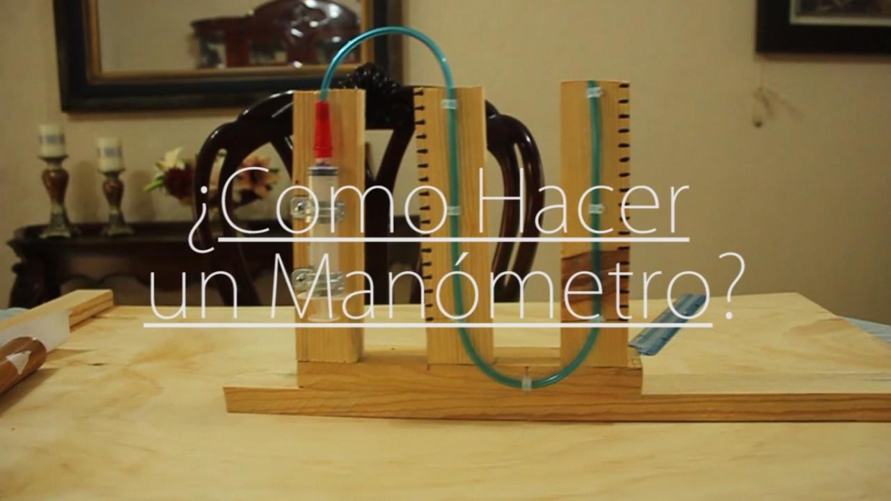Termodinámica - ¿Como hacer un Manómetro casero? - YouTube