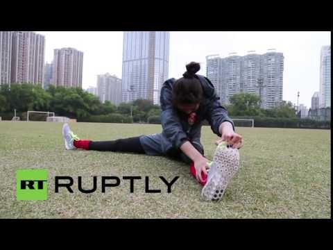 Video Zhao Lina, nữ thủ môn đẹp như siêu mẫu