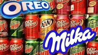 Что будет, если смешать самые необычные Американские напитки и сладости???
