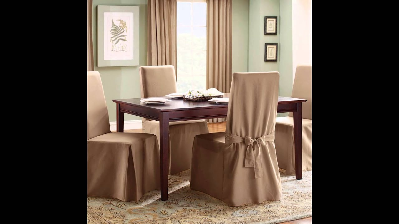 Dining Room Chair Covers | Dining Room Chair Seat Covers - YouTube