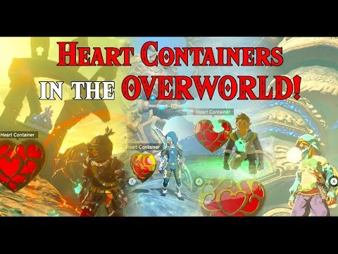 Heart Containers in the OVERWORLD! She Link & 4 and a half Links in Zelda Breath of the Wild