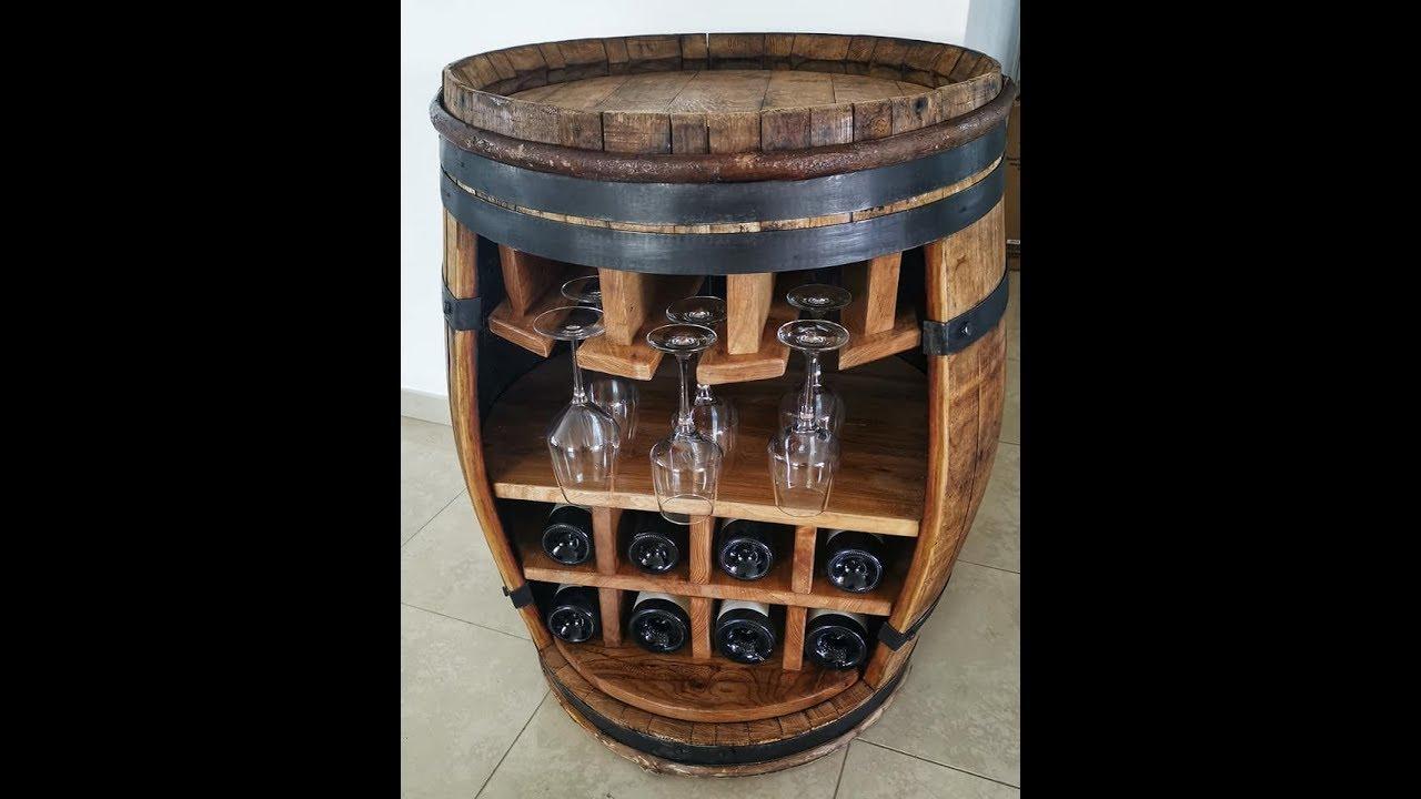 Transformer Un Tonneau En Bar comment fabriquer un bar a vin avec un tonneau