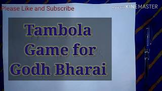 Tambola Game For Godh Bharai Function | Game For Baby Shower Function
