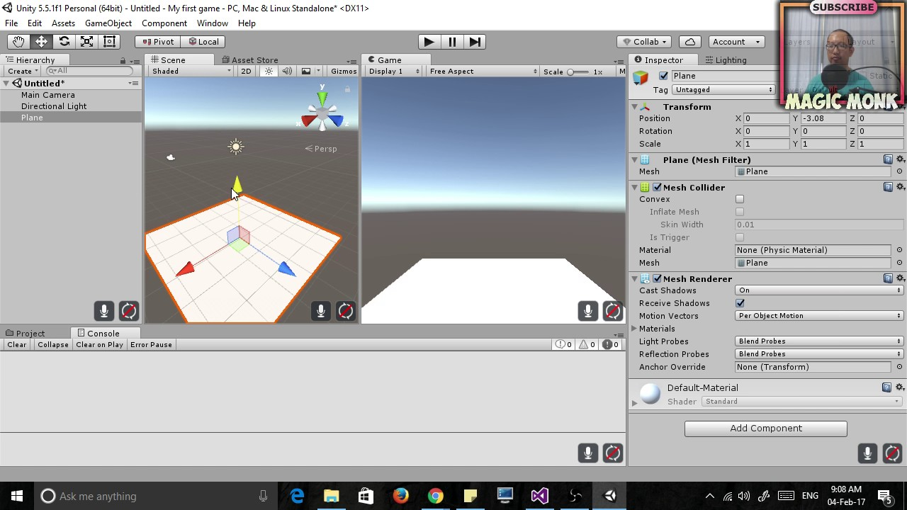 Unity for Absolute Beginners Lesson 1 - Moving, Rotating, Resizing objects