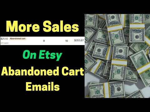 Etsy Email Abandoned Cart Re-targeting (How To Get More Sales On Etsy)