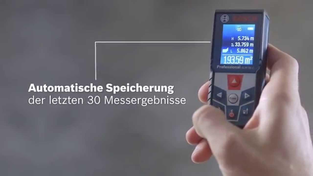 Bosch glm 50 c professional laser entfernungsmesser youtube