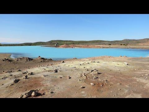 Hot sulphur lake near Hverarönd area (Hverir ) - Iceland