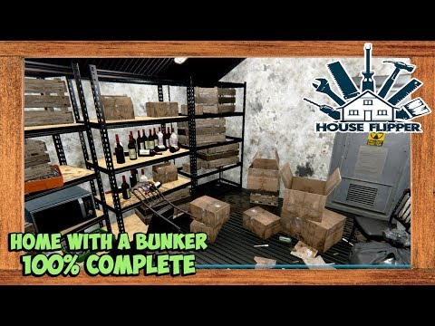 House Flipper Home With A Bunker Task 100% Complete - YouTube