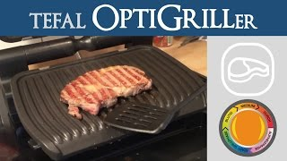 perfektes entrecte steak ribeye gesund zubereitet   tefal optigrill stufe medium