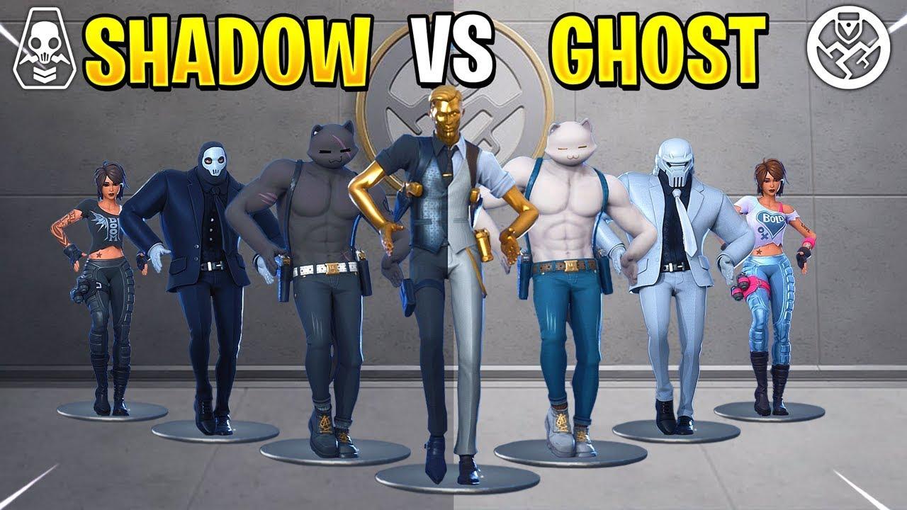 Fortnite Dance Battle Ghost Vs Shadow Youtube