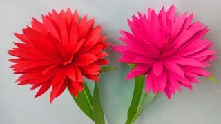 how to make paper flowers step by step | flower crafts with paper