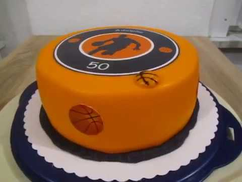 basketball torte zum 50 geburtstag fondant youtube. Black Bedroom Furniture Sets. Home Design Ideas
