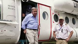 UN Chief urges world to show solidarity after visiting Imvepi refugee camp in Uganda thumbnail