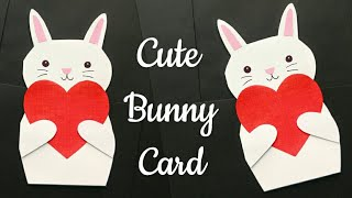 DIY Bunny Card/ Cute Rabbit Card/Rabbit Card for Kids/ Sorry Card/ Cute Rabbit Card Making