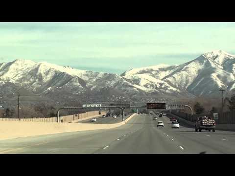 Driving into Salt Lake City