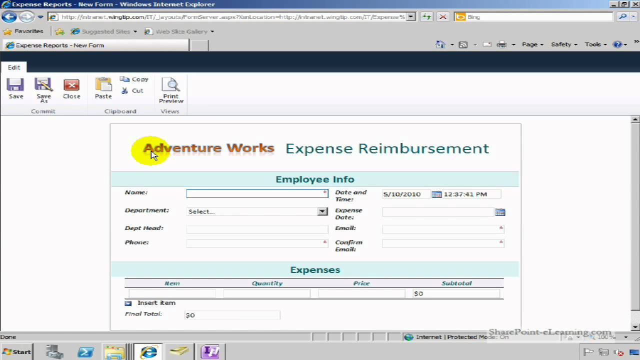publish a infopath 2010 form to form library in sharepoint 2010 youtube