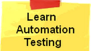 Learn Automation Testing step by step ( Telerik Test Studio)