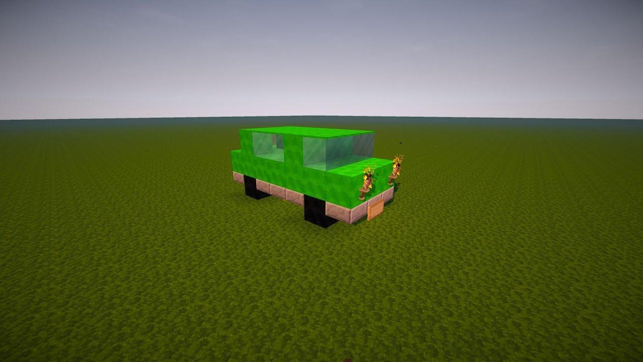 Машина в майнкрафте из блоков картинки