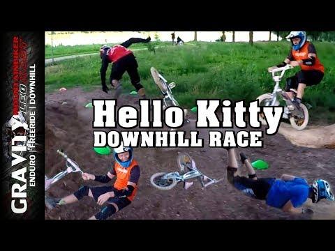 MTB Games #4 (Hello Kitty Downhill Race   Lustiges Parcours Rennen mit Kinderfahrrad) Leo Kast