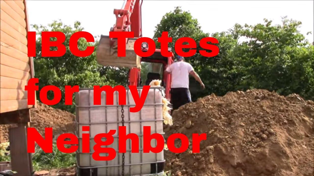 Taking Some Ibc Totes To My Neighbor Bobbyzohio Youtube