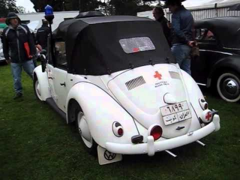 vw early beetle  door convertible red cross edition  bad camberg  youtube