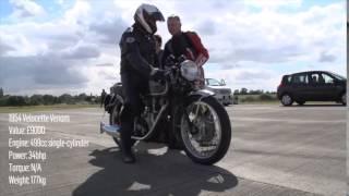 Velocette Venom vs Jaguar XK120 Roadster | Specials | Motorcyclenews.com