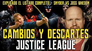 LISTADO CAMBIOS JUSTICE LEAGUE - QUE ELIMINÓ E INCLUYÓ JOSS WHEDON - ZACK SNYDER - LIGA JUSTICIA