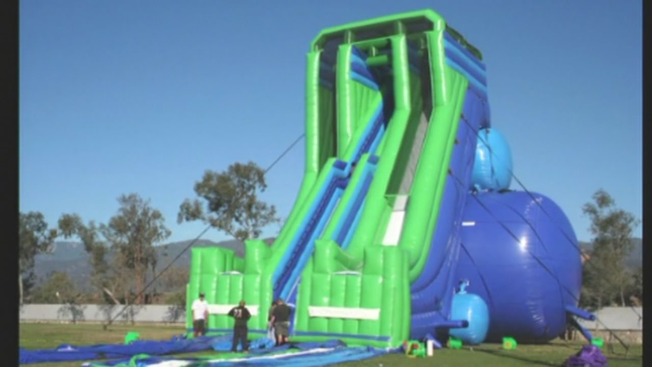 Inflatable Water Slide giant inflatable water slides coming to abq - youtube