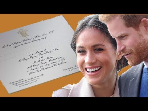 Meghan Markle's Wedding Invitations: Was it a mistake or intentional?