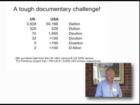 Getting the best from traditional and genetic genealogy – the future for the Dalton surname project