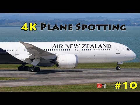 4K PLANE SPOTTING COMPILATION #10 | 20 Minutes of Movements at Auckland Airport