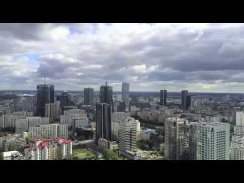Warsaw downtown, 35th floor of Warsaw Trade Tower - time-lapse - part 1