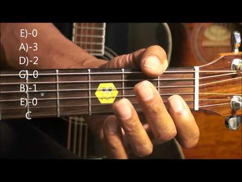 Guitar Chord Form Tutorial #210 Barney Dinosaur Style Shapes EricBlackmonMusicHD Kids