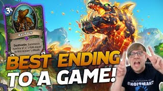 ONE OF THE BEST ENDINGS TO A GAME!   Hearthstone Battlegrounds   Savjz