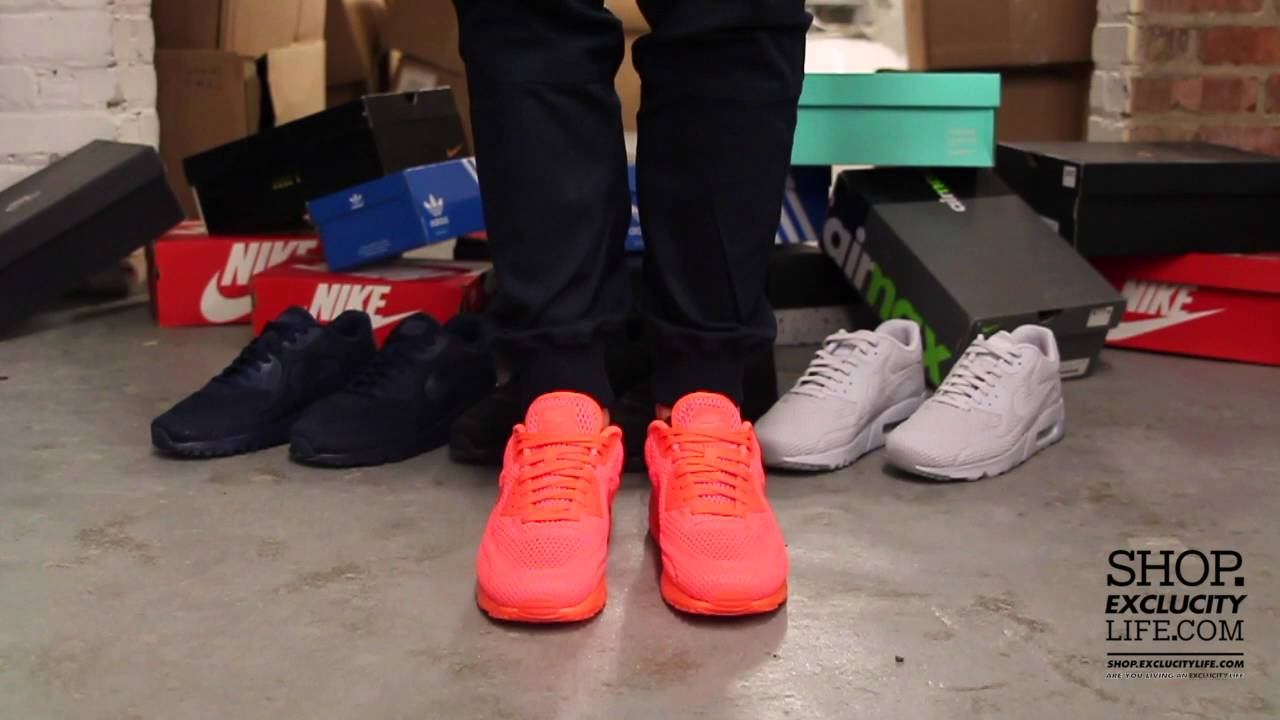 edfb98bbf11 Nike Air Max 90 Ultra BR Total Crimson On feet Video at Exclucity - YouTube