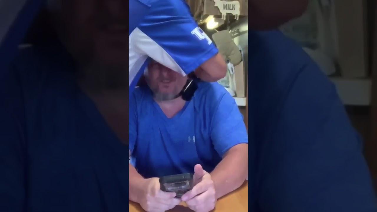 Hubby tries bark collar - YouTube