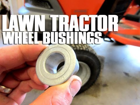 HOW-TO Replace Lawn Tractor Front Wheel Bushings - Fix Those Wobbly Wheels!