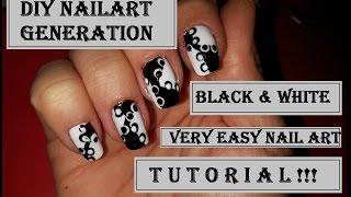 ЛЕСЕН И ПРЕКРАСЕН МАНИКЮР! Видео урок! Black and White Easy Nail Art Dots Design!