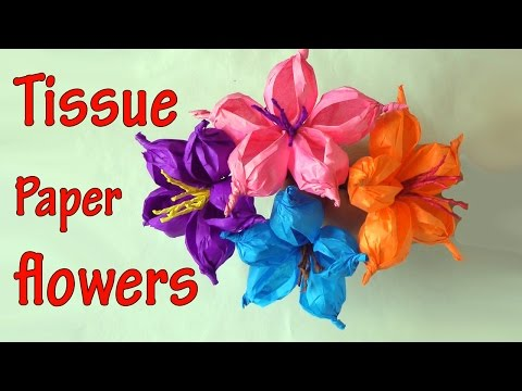 DIY crafts : How to make tissue paper flowers EASY! Ana | DIY Crafts.