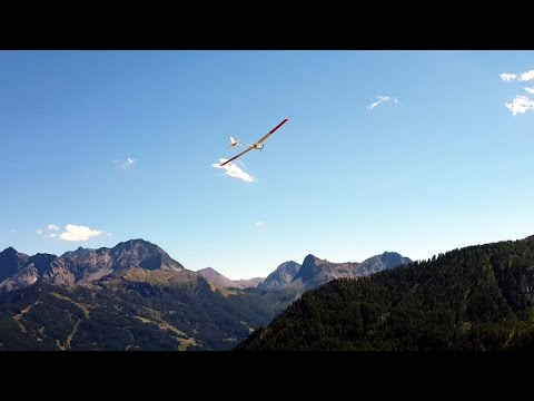 Slope soaring in bardonecchia