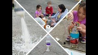Launch Rockets With Your Kids!!!  Super Easy!  Using Household Items!
