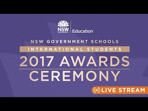 2017 NSW Government Schools International Student Awards Ceremony