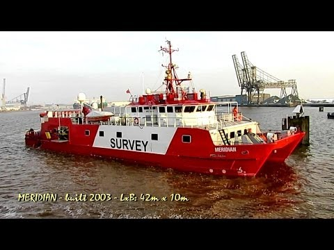 survey catamaran MERIDIAN ZDJC9 IMO 9299977 Emden Germany Research vessel