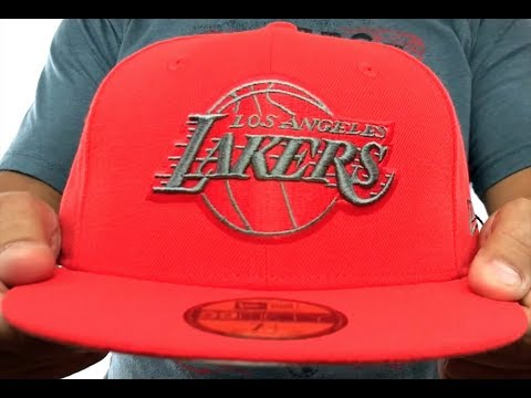 a48c70476 ... Blue Hat by New Era · Lakers  NBA TEAM-BASIC  Fire Red-Charcoal Fitted  Hat ...