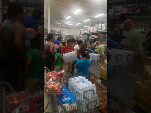 People Fighting Over Water Before Hurricane Irma