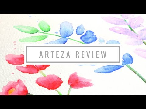 Arteza Real Brush Pens, Watercolor Paper and Self watering Brushes Review