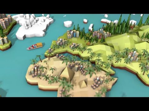 Low Poly Earth - Europe Motion Graphics