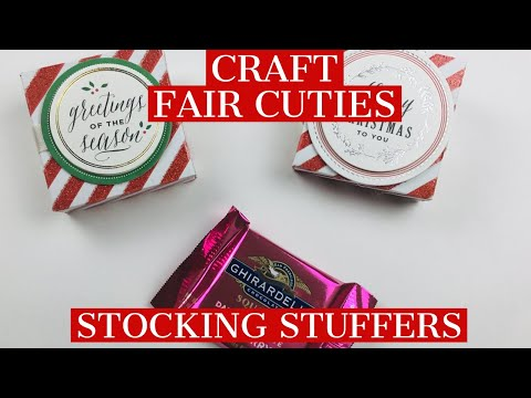 CRAFT FAIR STOCKING STUFFERS!!!  GHIRARDELLI CHICOLATE BOXES!!  You Only Need ONE 6x6 Paper