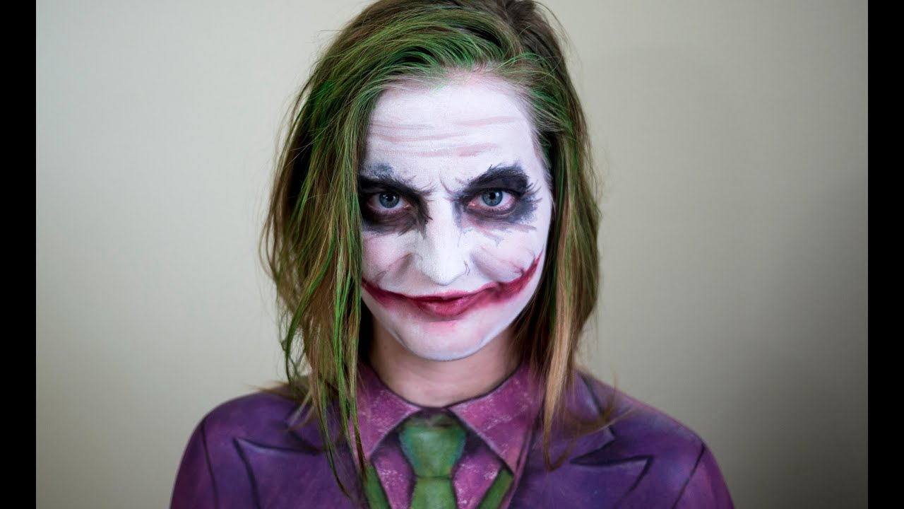 Joker Face Body Paint