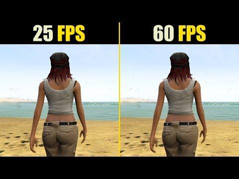 25 FPS vs. 60 FPS Gaming